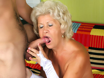 Busty Grandma Fucking a Younger Guy