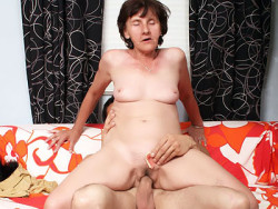 Granny Removes Her Dentures to Swallow a Cock-1