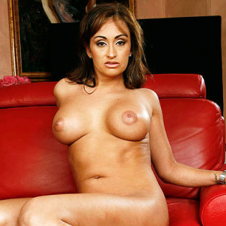 Claudia-Valentine-Showing-Off-Her-Rack-1